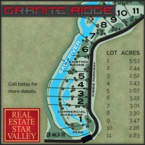Lot map of Granite Ridge, Wyoming